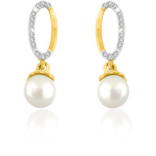 Sparkles 0.07 Ct. Beautiful 18Kt Gold & Diamond Earrings (Design 1)