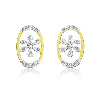 Sparkles 0.1 Ct. Beautiful 18Kt Gold & Diamond Earrings (Design 2)