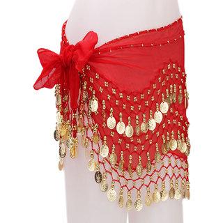 Belly Dance Hip Wrap Red Belt