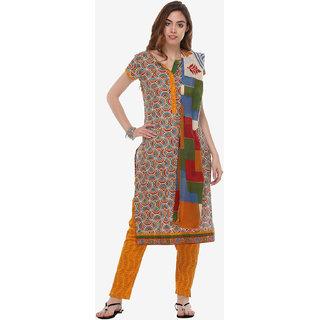 Varanga Multi Cotton Printed Unstitched Dress Material