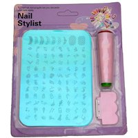 Nail Art Stamping Kit Decoration With Jumbo Image Plate