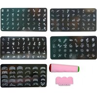 Nail Art Stamping Kit With 5 Image Plate Gift For Women