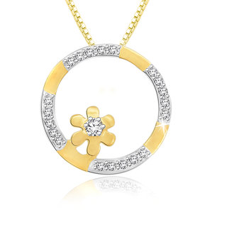 Sparkles 0.1 Ct. Beautiful 18Kt Gold & Diamond Pendant