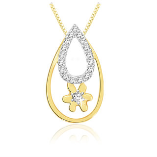 Sparkles 0.11 Ct. Beautiful 18Kt Gold & Diamond Pendant
