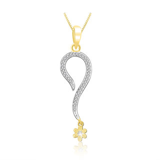 Sparkles 0.13 Ct. Beautiful 18Kt Gold & Diamond Pendant