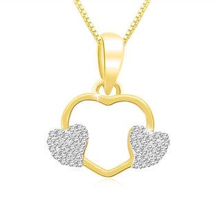 Sparkles 0.15 Ct. Beautiful 09Kt Gold & Diamonds Heart Shaped Pendant (Design 2)