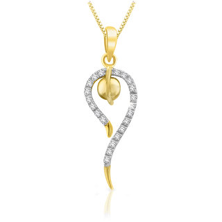 Sparkles 0.15 Ct. Beautiful 18Kt Gold & Diamond Pendant