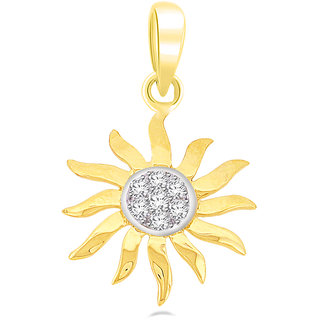 Sparkles 0.15 Ct. Sun Shine Diamond Pendants