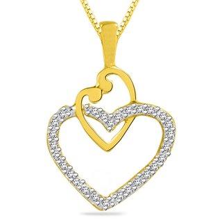 Sparkles 0.15 Ct. Beautiful 18Kt Gold & Diamonds Heart Shaped Pendant