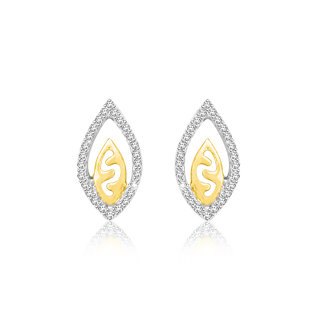 Sparkles 0.21 Ct. Beautiful 18Kt Gold & Diamond Earrings