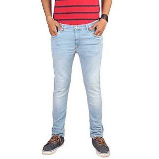 Lee Blue Skinny Fit Mid Rise Mens Jeans