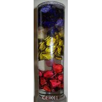 Gel Candle Glass With Multi-Colored Potpurri