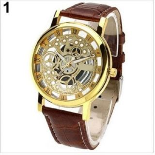Transparent Watch For Men Brown
