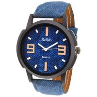 Analog Blue Dial Watch For MenS