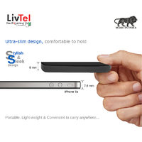 Livtel Liv-1006 Li-Polymer Power Bank With Dual Charging Ports And Reversible Micro-USB Cable 10000 MAh - Black