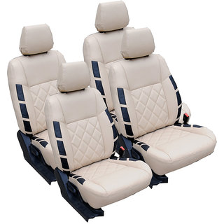 Craze i10 Leatherite BeigeBlack Wave9 Steering Cover