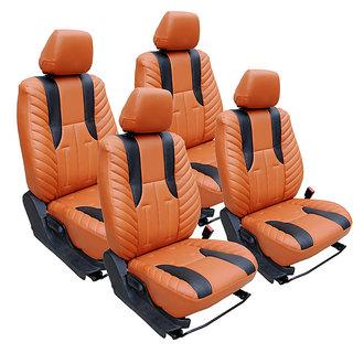 Craze Grandi10 Leatherite TanBlack Wave14 Steering Cover
