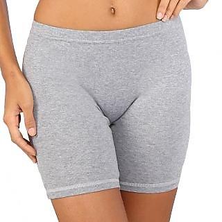 Bralux Grey Cotton Plain Short