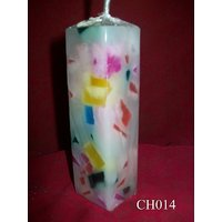 Multi Colored Thin Rectangle Candle-4.5 Inches