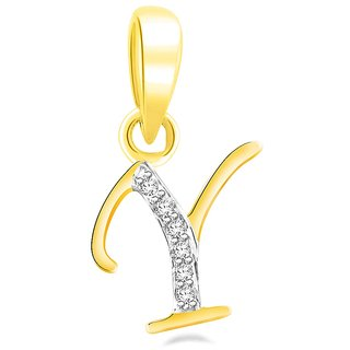 Sparkles 0.02 Ct. Beautiful `Y` Shape Diamond Pendant In Sterling Silver