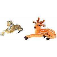 Deals India Tiger (32 cm) and Deer 32 cm (set of 2)