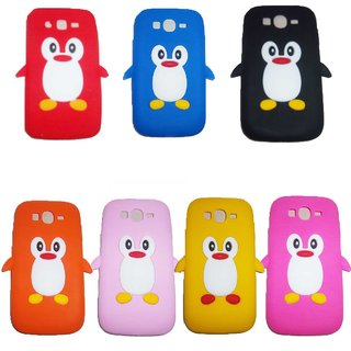 Silicon Penguin Back Cover Case For Samsung Galaxy Grand Duos i9082