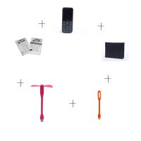 Peace P1 Black + LED Light + LED Fan + Wallet + Noosy Sim adaptor - (6 months Gadgetwood warranty on phone)