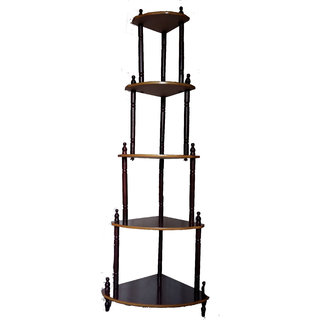 Wooden corner stand 5 shelves