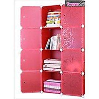 Rbshoppy Plastic Foldable Wardrobes Cupboard Almirah P-1 (Pink)