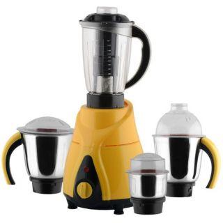 ANJALIMIX Mixer Grinder INSTA 1000 WATTS With 4 Jars (Yellow) at shopclues