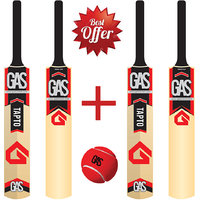 GAS Tapto Bat - Pair of 2 pcs Bat + 1 Tennis Ball