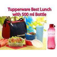 TUPPERWARE BEST LUNCH SET WITH TUPPERWARE 500 ML WATER BOTTLE