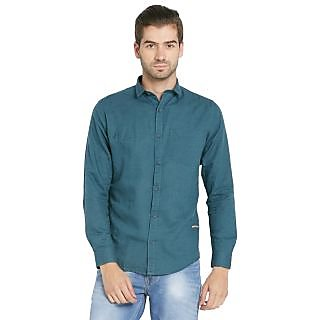Globus MenS Green Colored Shirt