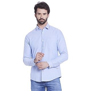 Globus MenS Blue Colored Shirt
