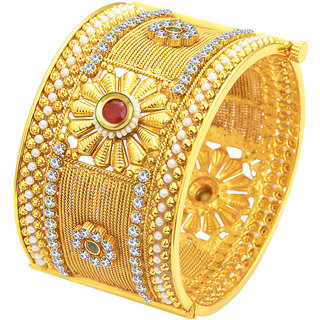 Sukkhi Glamorous Gold Plated Kada For Women