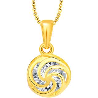 Sukkhi Graceful Solitaire Gold Plated CZ Pendant For Women