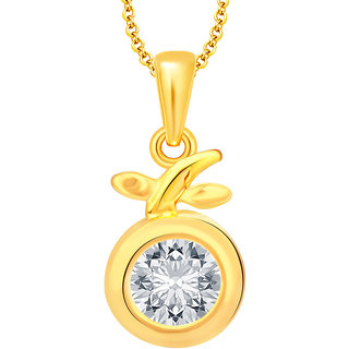 Sukkhi Glamorous Solitaire Gold Plated CZ Pendant For Women