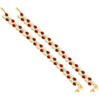 Sukkhi Stunning Gold Plated Anklet For Women