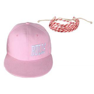 sushito Jstarmart Pink Bulls Cap Combo Wrist band  JSMFHCP1103