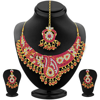 Sukkhi Brilliant Gold Plated AD Necklace Set For Women