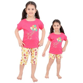 Punkster Pink Top Bottom Set For Girls
