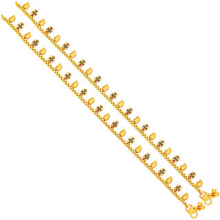 Sukkhi Stylish Gold Plated Anklet For Women