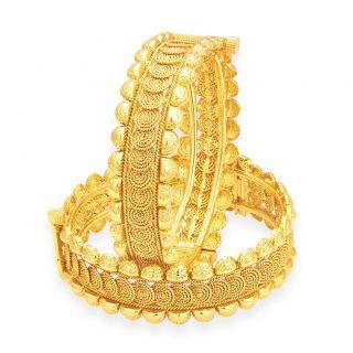 Sukkhi Pleasing Jalebi Gold Plated Bangle For Women