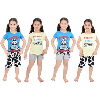 Punkster Blue Top Bottom Set For Girls