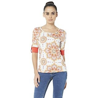 Globus WomenS Orange Colored Top