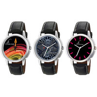Combo Of Jack Klein Stylish Graphic 1202, 1204, 1217 Watches