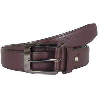 Snoby  Brown  Synthetic Leather Belt (SBY10121)