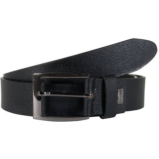 Snoby  Black  Leather Belt (SBY10142)