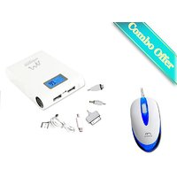 Ambrane P-1000 Power Bank (White) With Free Ambrane Wired Mouse M-111