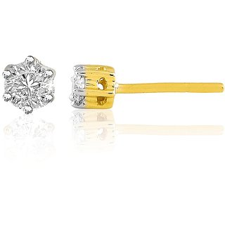Sparkles 0.15 Ct. Beautiful 925 Sterling Silver & Diamond Earrings (Design 2)